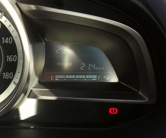 新型デミオ13S MT DJ 平均燃費