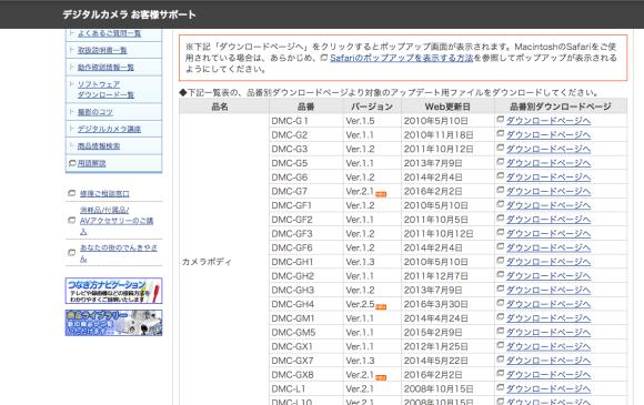 Gh4 ファームウェアアップデート