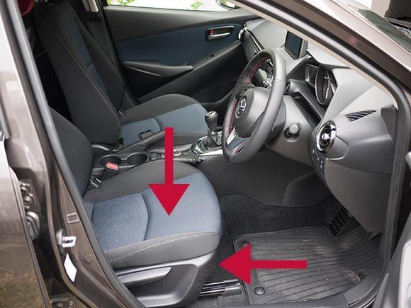 マツダ 新型デミオ ドライビングポジション セッティング
