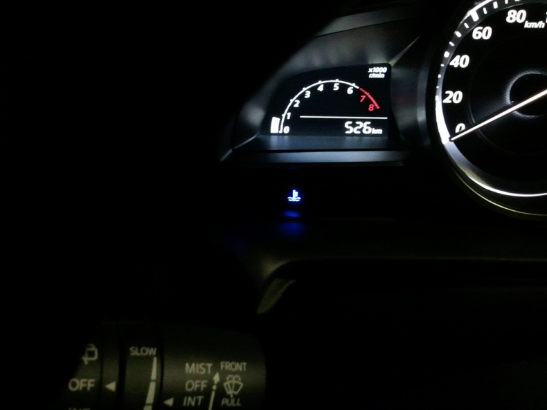 新型デミオ DJ 13S 低水温表示灯 青
